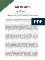 No Religion Buddhadassa