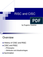 RISC and CISC - Eugene Clewlow