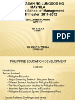 Development Planning- EDUCATION