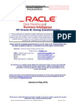 HP Oracle DW_BI Sizing Questionnaire