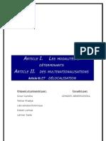 Déterminants et modalités des multinationales et des délocalisations