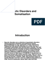 Neurotic Disorders and Somatisation