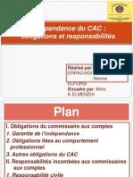 Indépendance du CAC obligations et responsabilités PPT