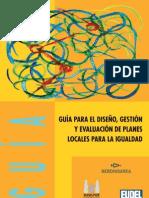 Guía para el diseño, gestion y evaluación de planes locales para la igualdad