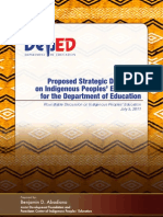 Proposed Strategic Directions on Indigenous Peoples' Education