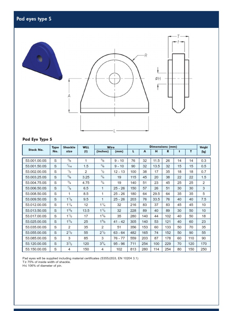 Lifting Pad Eye Design Pdf
