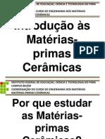 Introdução às Matérias-primas Ceramicas