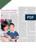 Rearing a reading habit
