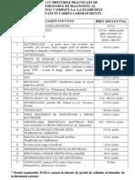 Lista Cu Preturile Practicate de Laboratorul de Diagnostic