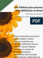 Políticas Públicas para pessoas com deficiência no Brasil