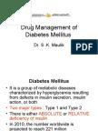 Drug Management of Diabetes Mellitus