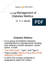 Drug Management of Diabetes Mellitus
