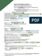 Formular Acordul AETR Sablon
