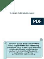 7. Evaluarea Si Optimizarea Indicatorilor Stabilitatii Finan