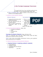 Authentic Versus Non-Authentic Data Materials[1]