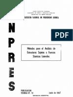 Metodos Para El Analisis Sismico de Estructuras
