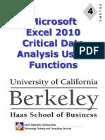 UC Excel 2010 - Module 4 - Data Analysis