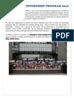 Internship Program 2012
