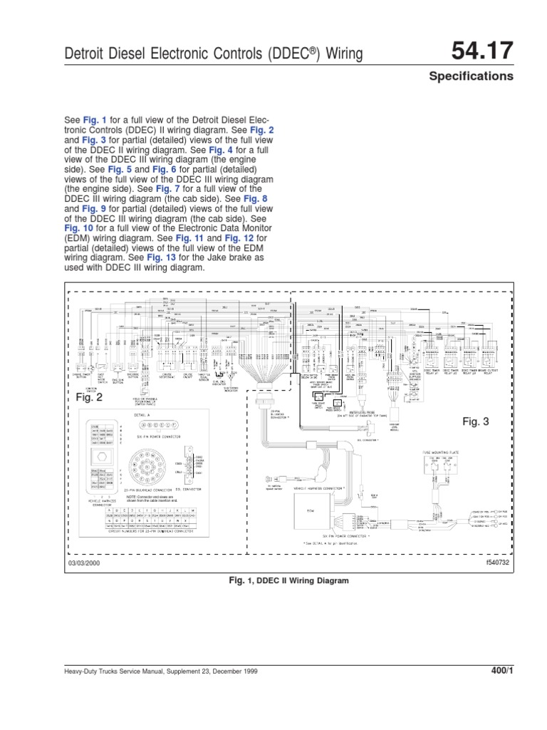ddec ii and iii wiring diagrams diesel engine truck rh scribd com Detroit Diesel DD15 Detroit Diesel 6-71
