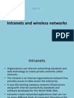 Intranets and Wireless Networks