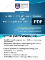 On the Job & Off the Job Training Methods
