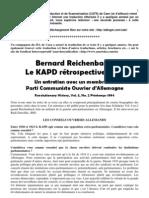 Le KAPD rétrospectivement, un entretien avec Bernard Richenbach