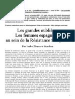 Les femmes espagnoles dans la résistance française.
