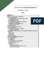 IPAE - SELECCIÓN Y EVALUACIÓN DE PERSONAL