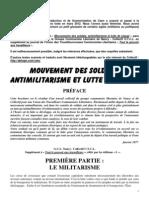 Mouvement des soldats, antimilitarisme et lutte de classe – France 1977