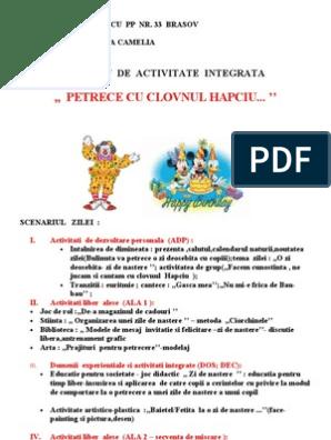 Proiect didactic: Dezvoltare personala (clasa pregătitoare)