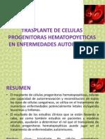 Trasplante de Celulas Progenitoras Hematopoyeticas-rosa Alva