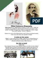 Mihail Eminescu Biography
