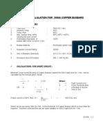 Busbar Calulation for 2000a Copper Busbars