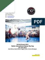 Projet Unvsti Event 2012