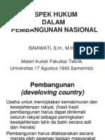 Aspek Hukum Pembangunan