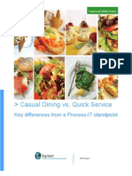 Casual Dining vs Quick Service White Paper