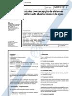 NBR 12211 NB 587 - Estudos de Concepcao de Sistemas Publicos de Abastecimento de Agua