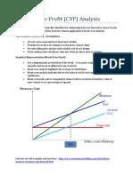 5 - Cost-Volume-Profit (CVP) Analysis