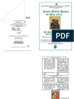 2012 - 29 June - St Peter and St Paul, The Apostles' Feast