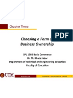 Ch 3 - Form of Business Ownerships