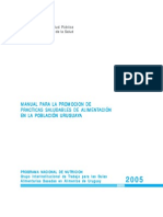 Manual Practicas Saludables Para La Poblacion Uruguaya