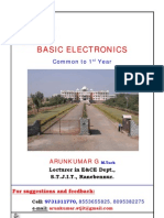 1st Year Basic Electronics Notes by Arunkumar.G, Lecturer in E_C Dept, S.T.J.I.T, Ranebennur