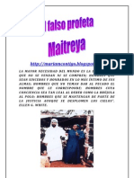 EL FALSO PROFETA MAITREYA | ALIANZA DE AMOR