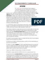 Informe de Conocimiento y Curriculum