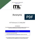 ITILV3 Acronyms English v1 2007