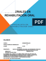 Biomateriales en Rehabilitacion Oral