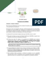 Carta al estudiante Cálculo 2012