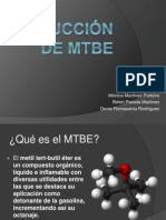 Producción de MTBE