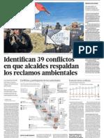 39 conflictos sociales sobre Medio Ambiente en Perú