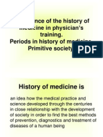 Importance of the history of medicine in physician's new